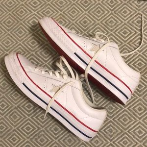 Converse One Star White low tops